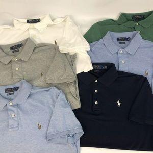 Lot Of 6 Men Polo Ralph Lauren Short Sleeve Shirts